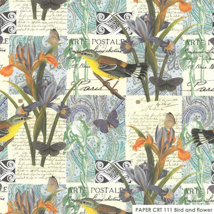 CRT 111 Bird and flower